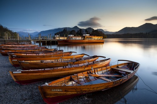 Boats on Derwent Water in the Lake District