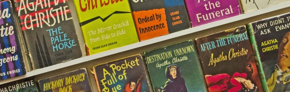 First editions of Agatha Christie's books