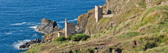 Ruined tin mines at Botallack in Cornwall
