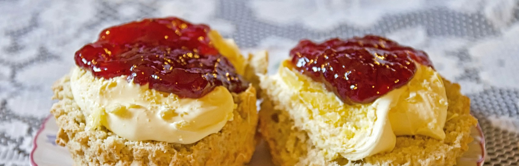 Scones with Clotted Cream and Jam. Photograph by ALEX GRAEME