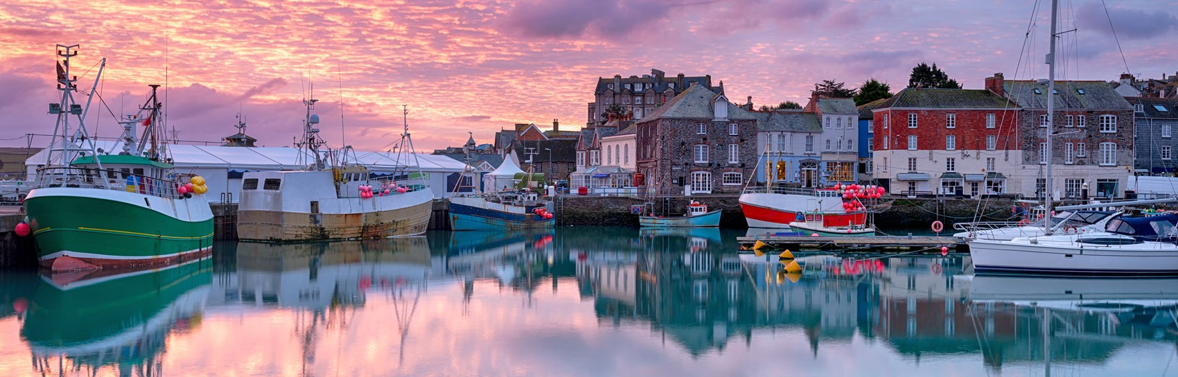 Sunrise in Padstow in Cornwall. Photograph by HELEN HOTSON