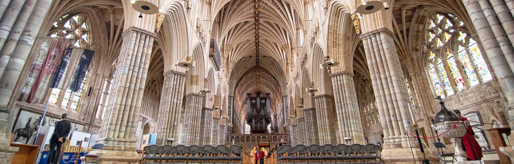 The interior of Exeter Cathedral. Photograph by ALEX GRAEME