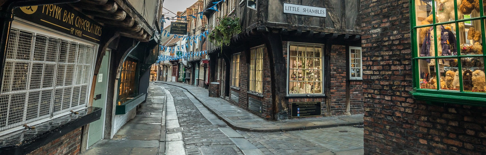 The Shambles in York in Yorkshire. Photograph by DAVE ZDANOWICZ