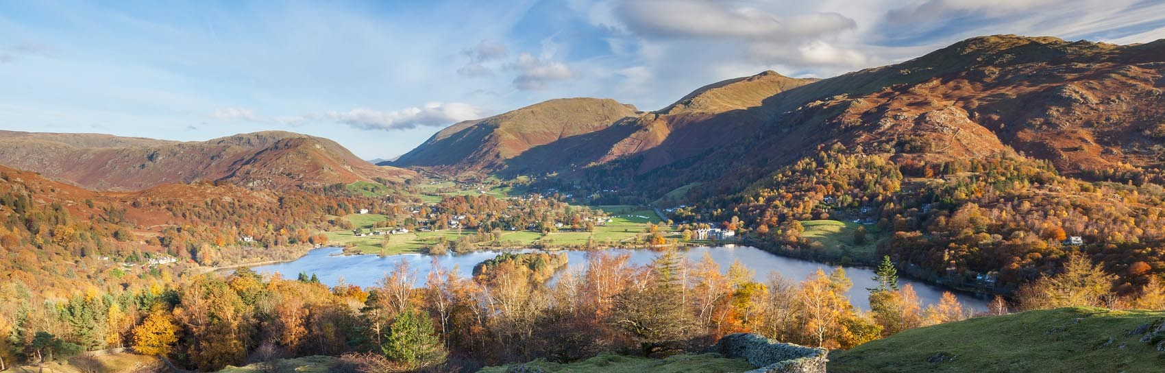 The view over Grasmere in the Lake District. Photograph by JAMES LINDSAY